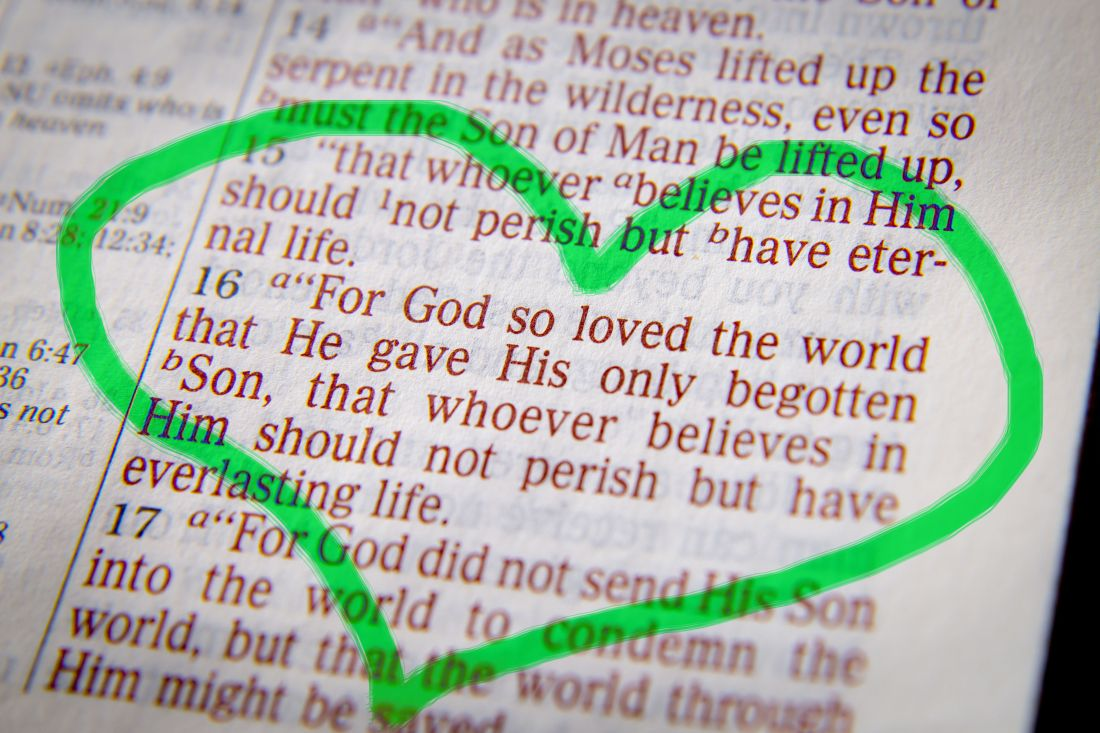 Bible text -  God so loved the world